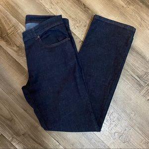 EILEEN FISHER Petite Straight Leg Dark Jeans